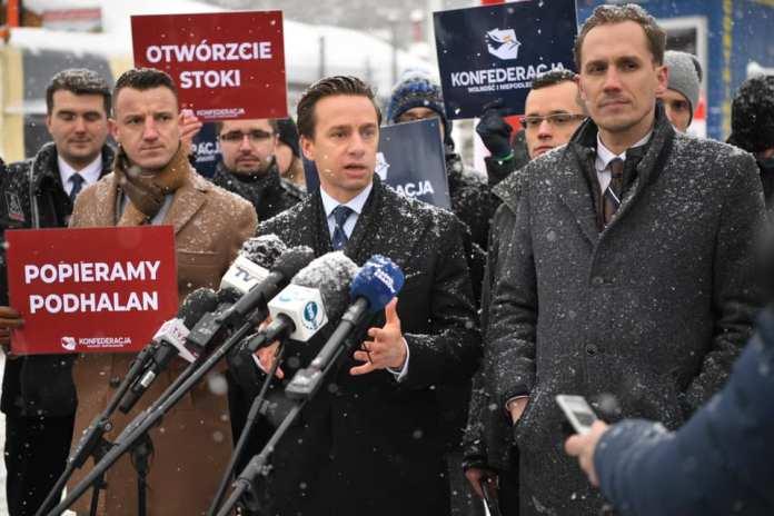 Konferencja Konfederacji Konrad Berkowicz i Krzysztof Bosak Podhale 15 stycznia AD 2021