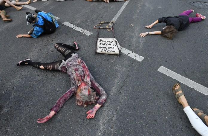 Extinction Rebellion zombie Australia 2