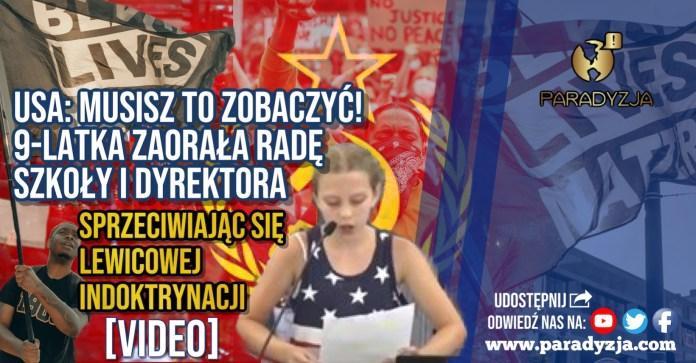 Musisz to zobaczyć! 9-latka zaorała radę szkoły i dyrektora sprzeciwiając się lewicowej indoktrynacji [VIDEO]