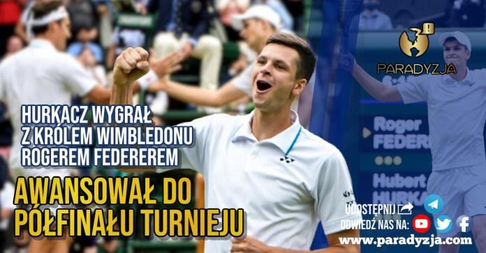 Hurkacz wygrał z królem Wimbledonu Rogerem Federerem. Awansował do półfinału turnieju