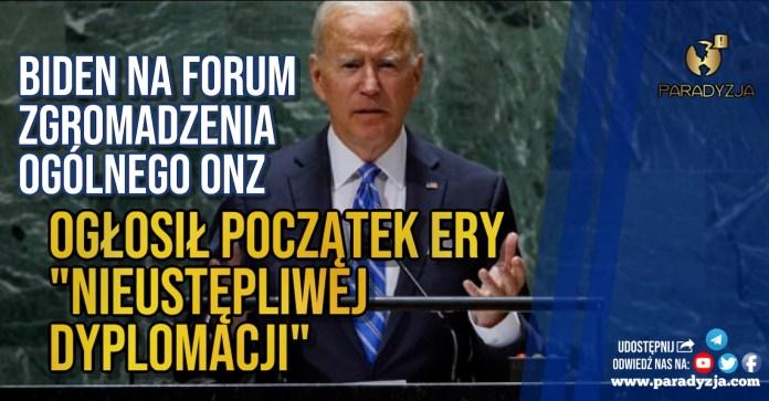 Biden na forum Zgromadzenia Ogólnego ONZ. Ogłosił początek ery