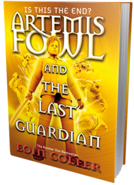 capa britânica de Artemis Fowl The Last Guardian