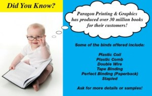 book baby postcard printing full color Paragon Printing Milwaukee Wisconsin