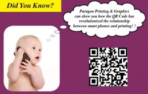 qr code baby postcard printing Paragon Printing Milwaukee Wisconsin
