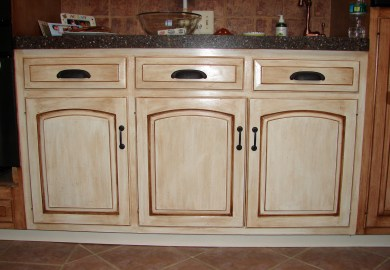 Kitchen Cabinet Faux Paint Finishes