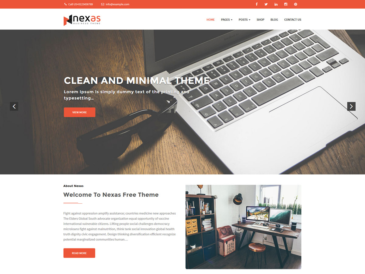 nexas free corporate theme