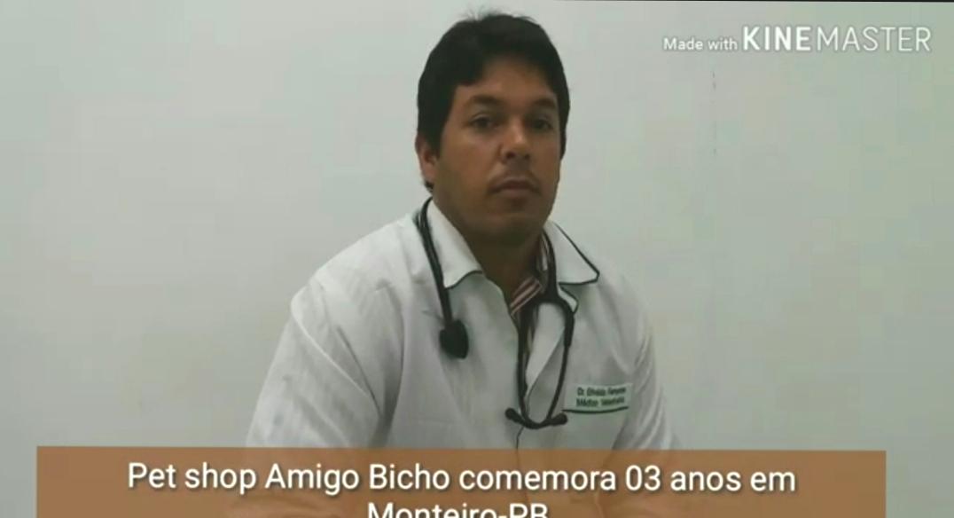 Amigo Bicho: Pet Shop comemora 03 anos em Monteiro, médico veterinário e proprietário concede entrevista – Assista ao vídeo:
