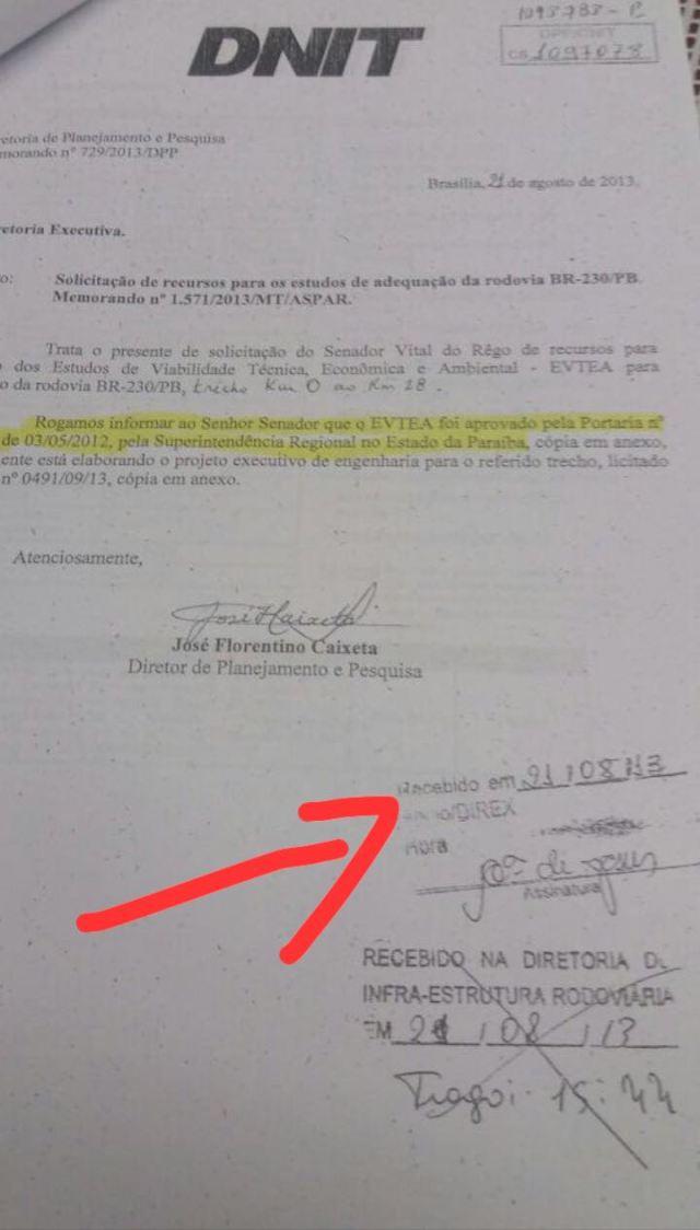 Vené relembra papel de Vitalzinho em duplicação da BR 230 entre CG e Praça do Meio do Mundo