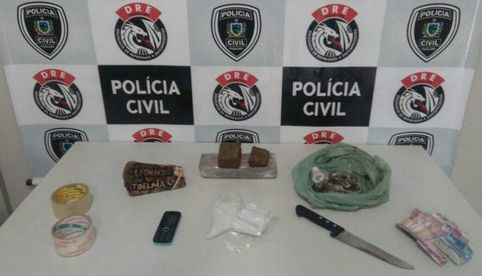 Casal é preso sob a suspeita de tráfico de drogas em Campina Grande