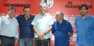 A convite do presidente, governador da Paraíba faz visita ao Campinense Clube