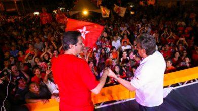 """""""Haddad, diga a Lula que a PB está com ele para construir uma grande vitória"""", diz João em comício"""
