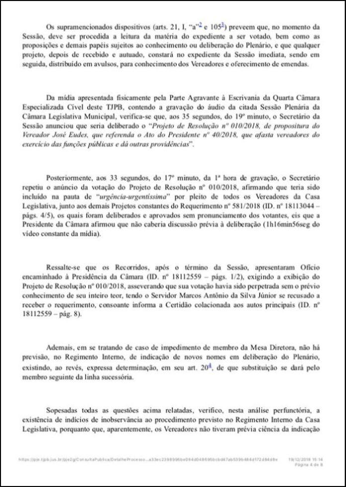 Justiça anula resolução que garantiu presidência da Câmara de Cabedelo à vereadora Geusa