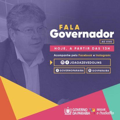 João estreia nesta segunda no programa Fala, Governador