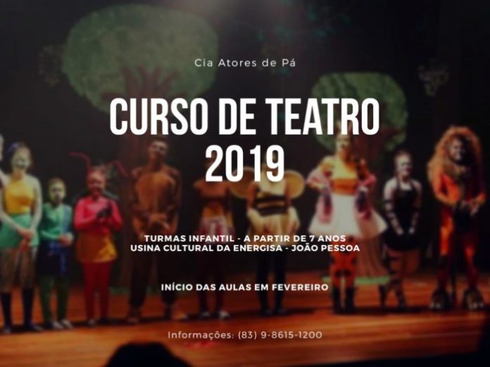 Cia Atores da Pá e Usina Cultural Energisa abrem inscrições para curso de teatro
