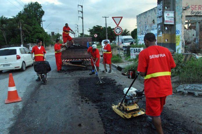 Manaíra e mais oito bairros de JP recebem nesta 6ª a operação Tapa-Buraco