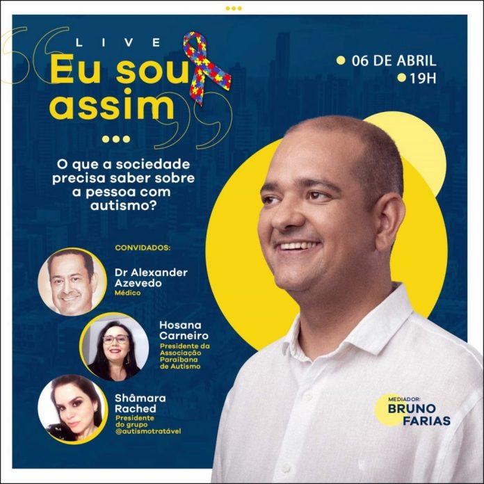 Bruno Farias promove live nesta terça para debater autismo e inclusão