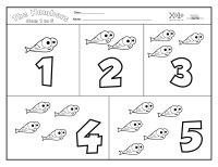 Numeros Del 1 Al 5 En Ingles Para Colorear Dibujos Para