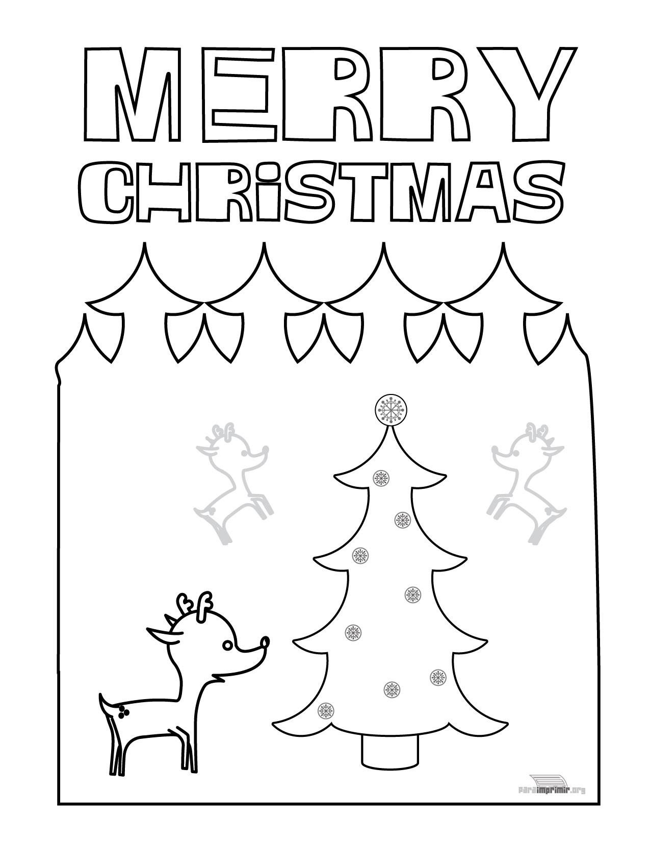 Dibujo De Navidad Para Imprimir En Ingles En