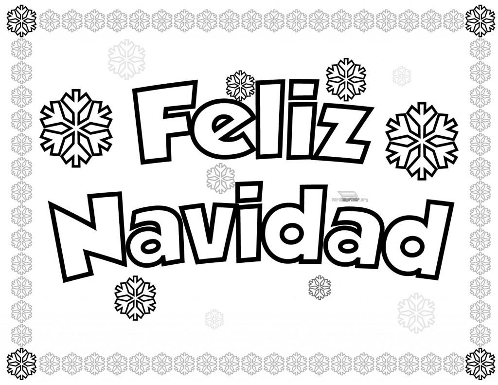 Dibujos De Navidad Para Colorear Que Diga Feliz Navidad Novocom Top