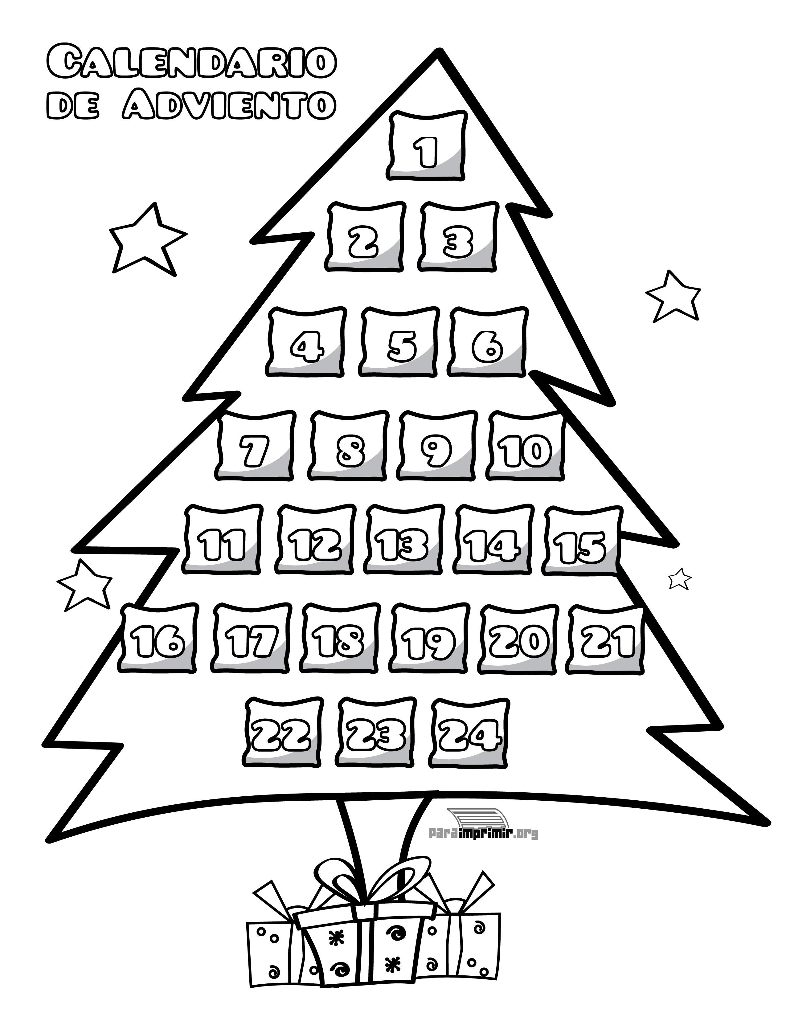 Dibujos De Adviento Y Navidad Para Colorear