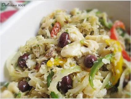Salada de Bacalhau com pimentões