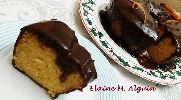 Tem Na Web - Bolo de cenoura com cobertura de chocolate - Ideal para café ou lanche!