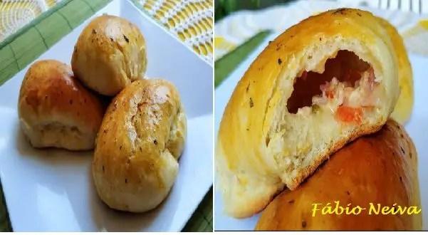 Tem Na Web - Pão de batata recheado - Delicioso no café ou no lanche!