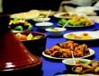 Table d'un fast-food à Parakou, Bénin