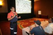 Se analiza estadística de atenciones y riesgos de la ciudad. Hugo García oficial de PCyBPV