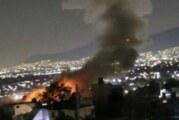 Momento de la explosión de pólvora en Tultepec