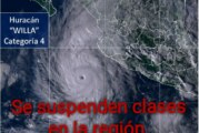 Lunes y martes no habrá clases en la región por Huracán Willa