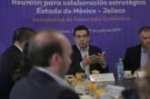 Refuerzan alianza por el desarrollo de Jalisco y del Estado de México
