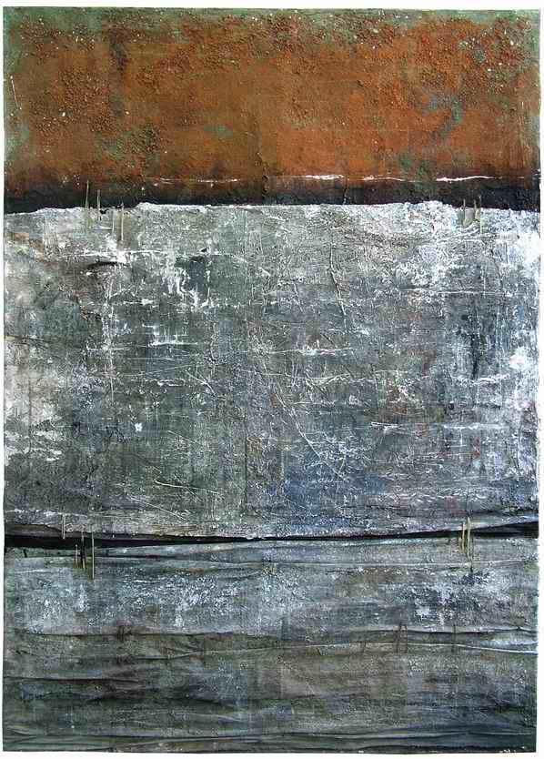 M.Paschalidou_spirals of music, mixed media on canvas 150x105 cm