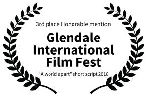 Award 3eme Glendale - Pierre COLMAIN - PARALLAX PICTURES
