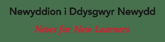 Newyddion i Ddysgwyr Newydd