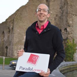 Parallel.cymru's Neil at Swansea Castle