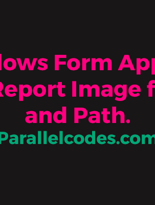C# Windows Form Application Crystal Report Image from URL and Path.