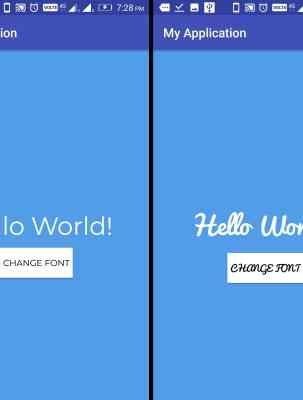 How to change Fonts Typeface in Android Application
