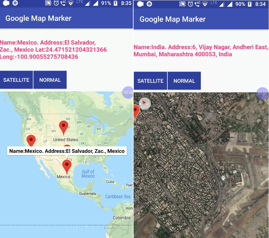 Android Add Markers To Google Maps And Get Latlng Address
