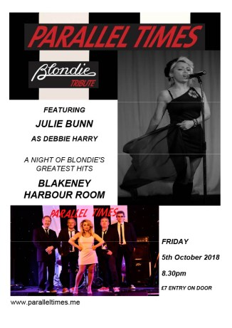 PARALLEL TIMES  Blondie tribute band featuring Julie Bunn