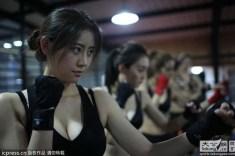 Las escuelas para entrenamiento de mujeres guardaespaldas han aumentado en Beijing durante los últimos años.