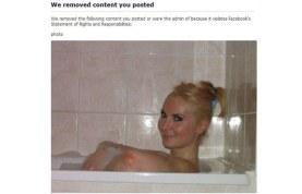Facebook borro su foto porque era inapropiada.