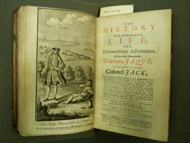 Colonel Jack, Fourth Edition (1738)