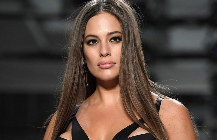 """Model Ashley Graham walks the runway for Addition Elle on September 11, 2017 during the New York Fashion Week in New York City.  Ashley Graham, who last year became the first """"curve"""" model on the cover of the annual """"Swimsuit Issue"""" of magazine """"Sports Illustrated"""" is on the cusp of becoming a household name. / AFP PHOTO / ANGELA WEISS / TO GO WITH AFP STORY BY JENNIE MATHEW        (Photo credit should read ANGELA WEISS/AFP/Getty Images)"""