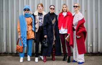 COPENHAGEN, DENMARK - FEBRUARY 01: Guests outside Designers Remix during the Copenhagen Fashion Week Autumn/Winter 18 on February 1, 2018 in Copenhagen, Denmark. (Photo by Christian Vierig/Getty Images)
