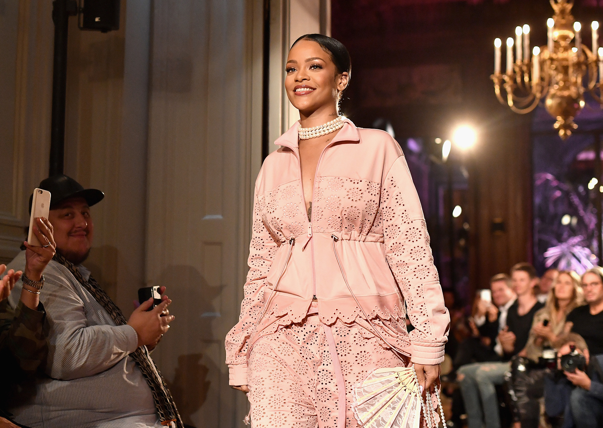 PARIS, FRANCE - SEPTEMBER 28:  Rihanna walks the runway during FENTY x PUMA by Rihanna at Hotel Salomon de Rothschild on September 28, 2016 in Paris, France.  (Photo by Jacopo Raule/Getty Images for Fenty x Puma)