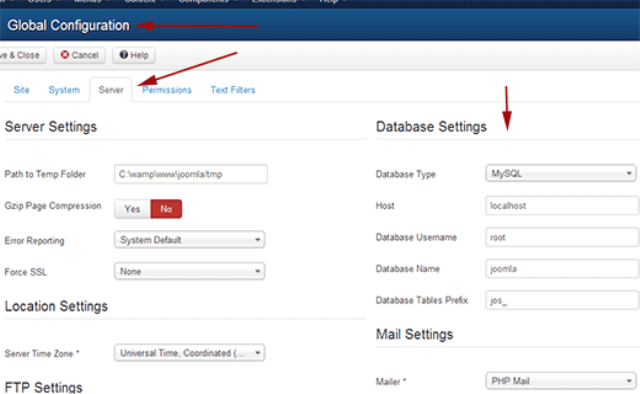 joomla-db-settings