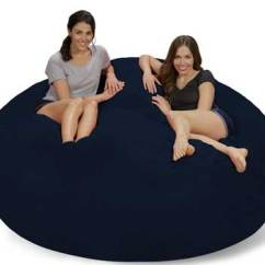 Sofa Sack Reviews Lazy Boy Madeline Top 10 Best Large Bean Bag Chairs In 2019 Paramatan Chill Bags 7 Feet Navy Micro Suede