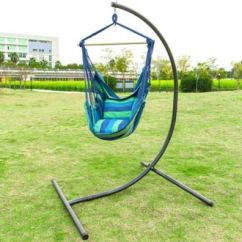 Hanging Chair Stand Only Nailhead Dining Room Chairs Top 10 Best Hammock Stands Reviews In 2019 Paramatan Oncloud C Heavy Duty Indoor Outdoor