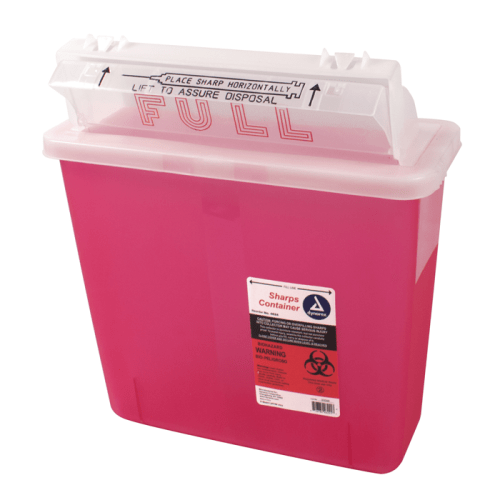 Sharps Container, 5 Qt with Mailbox Lid